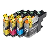4 Pack - Toners & More ® Compatible Inkjet Cartridge Set for Brother LC-203 LC-203XL LC-201, LC-203BK Black, LC-203C Cyan, LC-203M Magenta, LC-203Y Yellow, Compatible with Brother MFC-J4320DW MFC-J4420DW MFC-J4620DW MFC-J5520DW MFC-J5620DW MFC-J5720DW