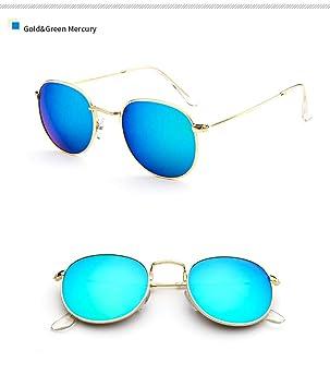Aprigy - Gafas de Sol de diseño de la Ronda Espejo Mujeres ...