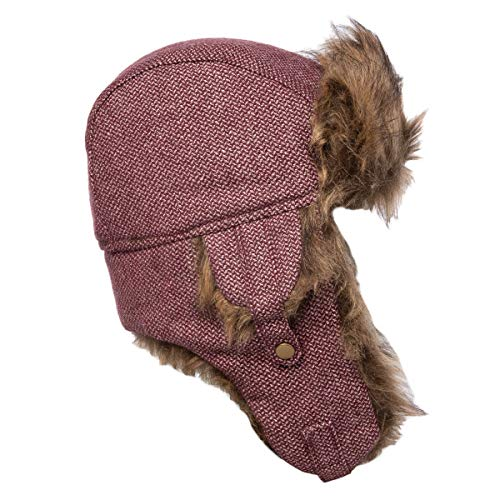 Capelli New York Winter Hat Womens Faux Fur Trapper Hat Warm Winter Hats for Women with Ear Flaps Wine