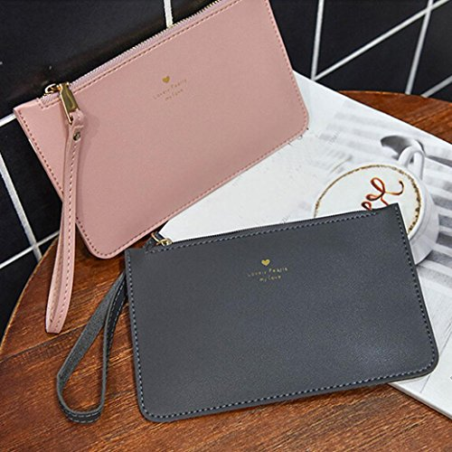 Leather Handbag Phone wallet Women's Bags Bag Bag Messenger Pink GINELO Coin Fashion 4FC6qCw