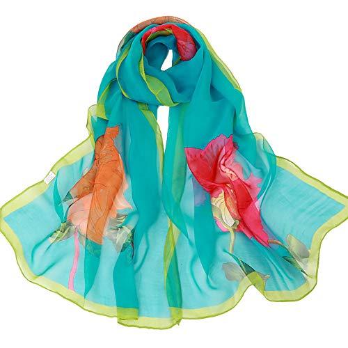 Imprimé Rose Angelof Écharpe Foulards En Vert Echarpe Chaude Hiver Foulard Long Femme hiver Soie Laine Automne Vogue qfz8qFU