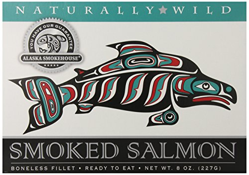 Alaska Smokehouse Salmon (Alaska Smokehouse Smoked Salmon Fillet, 8 Ounce Gift Box)