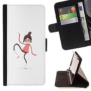 KingStore / Leather Etui en cuir / LG Nexus 5 D820 D821 / Mujer Spaghetti