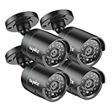 SANNCE 4 Pack HD-TVI 720P Camera 1.0MP Hi-Resolution Weatherproof Bullet Camera for Video Security System with Long Distance Night Vision