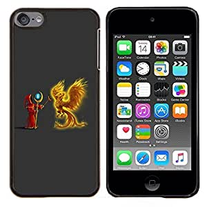 Cubierta protectora del caso de Shell Plástico || Apple iPod Touch 6 6th Touch6 || Flaming Phoenix y Asistente @XPTECH