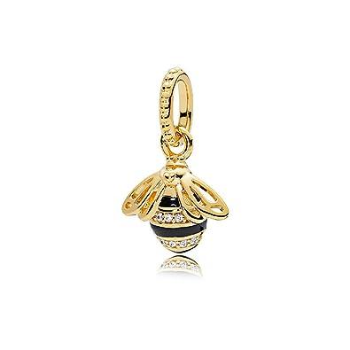 a824d49bd Amazon.com: Queen Bee Pendant, PANDORA Shine, Black Enamel & Clear ...