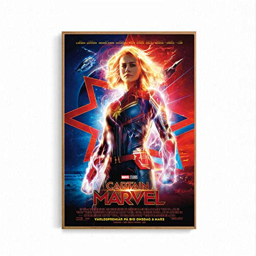 taoyuemaoyi Cartel De La Película Capitán Marvel Cat Space ...
