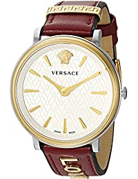 Women's 'MANIFESTO EDITION' Swiss Quartz Gold-Tone and Leather Casual Watch, Color:Red (Model: VBP020017)