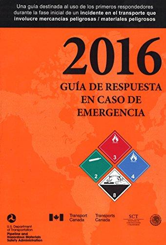 2016 Emergency Response Guidebook, Standard Bound Full Size 5 ½