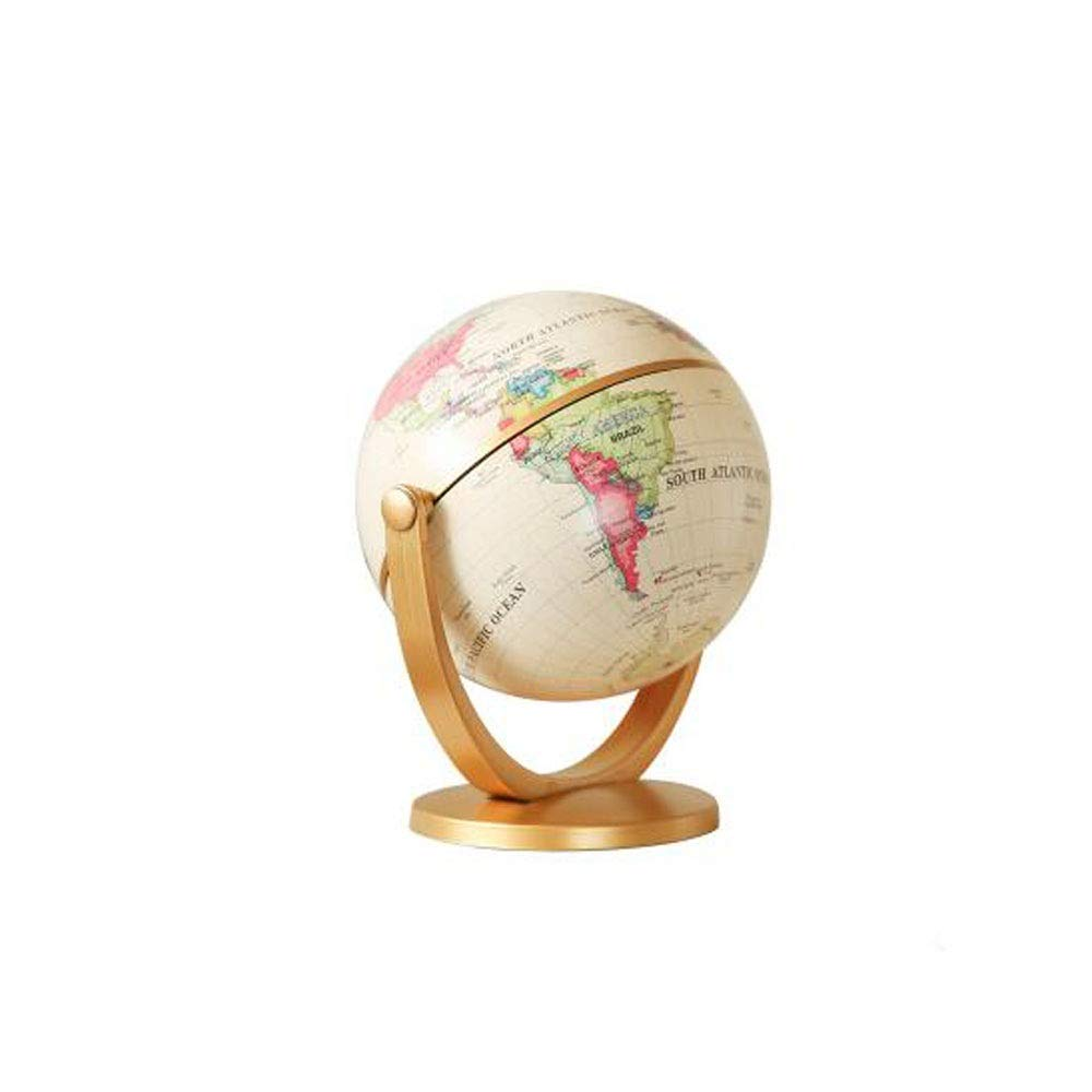 Hongyuantongxun Living Room Decoration, Mini Creative Desk Retro Globe Small Ornaments, Bookcase Soft Decorations Home furnishings Jewelry (Color : Beige, Size : 13.511cm)