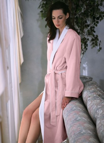 Luxury Spa Robe - Microfiber with Cotton Terry Lining, Pink, XXX-Large by Plush Necessities (Image #4)