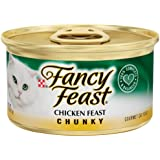 Fancy Feast Wet Cat Food, Chunky, Chicken Feast, 3-Ounce Can, Pack of 24