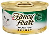 Fancy Feast Gourmet Cat Food, Chunky Chicken Feast, 3-Ounce Cans (Pack of 24), My Pet Supplies