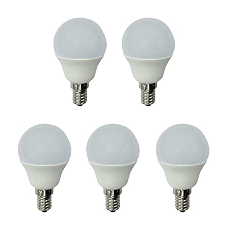 A2BC LED Lighting - Pack x5 Bombilla LED esférica 6W (equivalente a 40W) Luz
