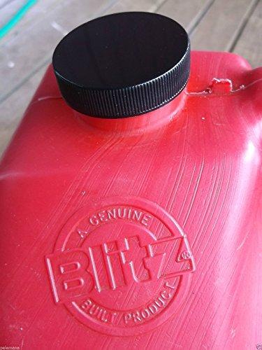 10-Pack Gas Can BLACK PLASTIC CAPS Blitz, Gott & Rubbermaid Essence Replacement Fuel Diesel Gallon Lids NEW w/ Viton Rubber Gasket - Cans Fuel Blitz