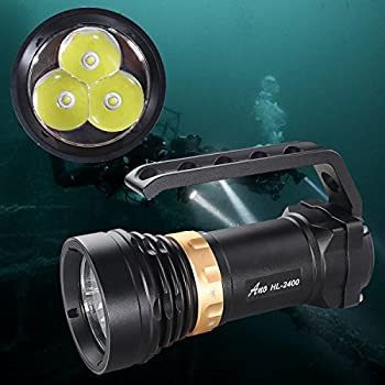 Image of ANO HL2400 Premium Quality Tech Diving Flashlight with Magnetic Switch Scuba Diving Light Underwater Light Primary Dive Lights True 2400 Lumens Diving Lights