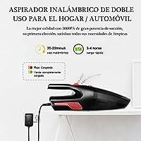 AUELEK Aspirador de Coche Sin Cable, 5000Pa Aspirador de Mano ...