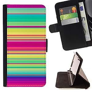 Momo Phone Case / Flip Funda de Cuero Case Cover - Motif Rose Vert Violet - HTC One A9