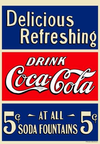 Russ Berrie 645659 Coca Cola Five Cent Coke Estate Flag
