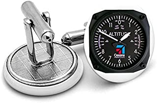 Cessna Altimeter instument s Cufflinks ,birthdays ,wedding.unisex Cuff links