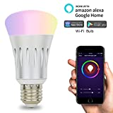 Smart Light Bulbs Wifi Light Bulb,Dimmable Multicolored LED Lights 7W Works with Echo Alexa and Google Home, No Hub Required Review