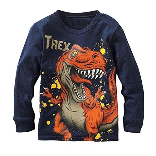 Canvos Baby Boys Long Sleeve T-shirts Dinosaur Tyrannosaurus Tops Clothes