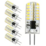 Kakanuo G4 LED Bulb Dimmable 2.5 Watt Warm White 3000K Bi-pin Base 48X3014SMD LED Corn Bulb AC/DC 10V-18V(Pack of 6)