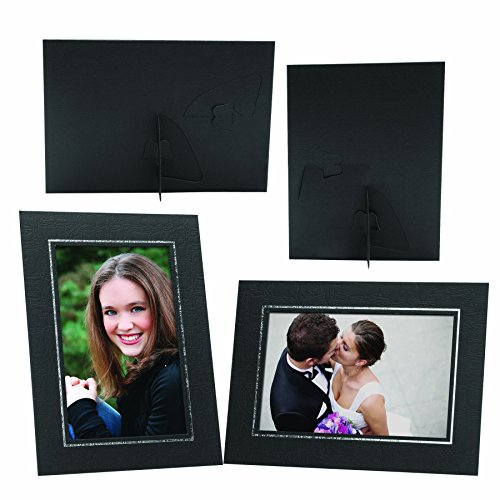 8x10 Black Cardboard Elite Easel Photo Folder - 100 Pack (Easel Tap)