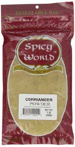 Spicy World Corriander Powder, 7-Ounce Pouches (Pack of 6) by Spicy World