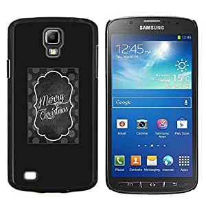 Stuss Case / Funda Carcasa protectora - Black Christmas minimaliste noir - Samsung Galaxy S4 Active i9295