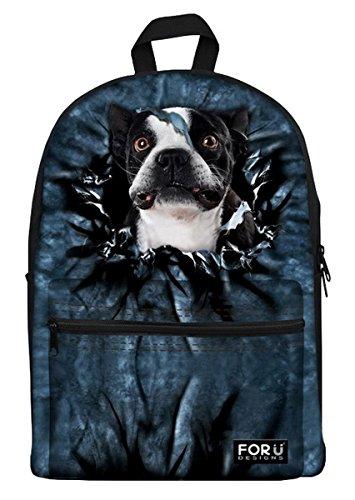 Lilimay Unisex 3D Mochila Estampada Bolsas de Galaxy perro gato Bolso Animal Casual Daypack para Hombres Mujer Ni?os Ni?as Senderismo Viaje Deporte, De Escuela De La Mochila, 29x17.5x39cm(L*W*H) C0472J