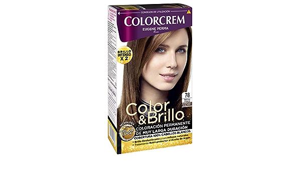 COLORCREM tinte Marrón Praliné Nº 78 caja 1 ud: Amazon.es ...