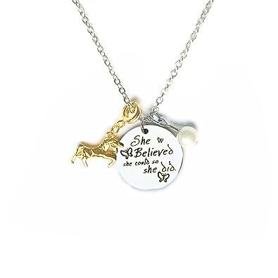 Unicorn Necklace For Girls - Magical Unicorn Pendant - Fine Jewellery By Cara Z X9kn4x