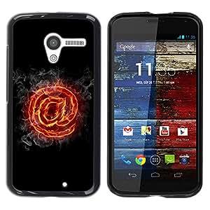 YiPhone /// Prima de resorte delgada de la cubierta del caso de Shell Armor - Flaming At - Motorola Moto X 1 1st GEN I XT1058 XT1053 XT1052 XT1056 XT1060 XT1055