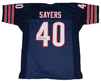 Autographed Gale Sayers Jersey #40 Throwback JSA Certified  for cheap