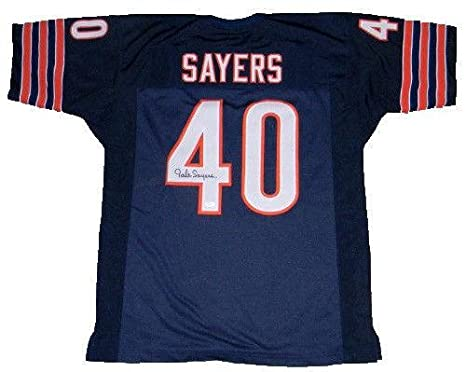 Image Unavailable. Image not available for. Color  Autographed Gale Sayers  Jersey ... 6be6d6eb1