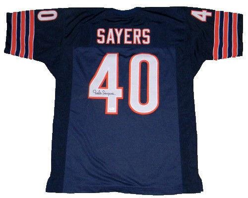 Autographed Gale Sayers Jersey - #40 Throwback - JSA Certified - Autographed NFL Jerseys