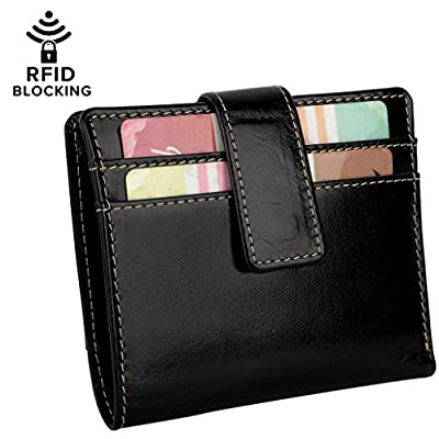 YALUXE Women's RFID Blocking Security Leather Small Billfold Wallet