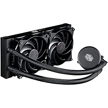 Cooler Master MasterLiquid 240 CPU Cooler, All-in-One Liquid Cooler, Dual Chamber Design, 120mm x 2 MasterFan Air Balance Fans