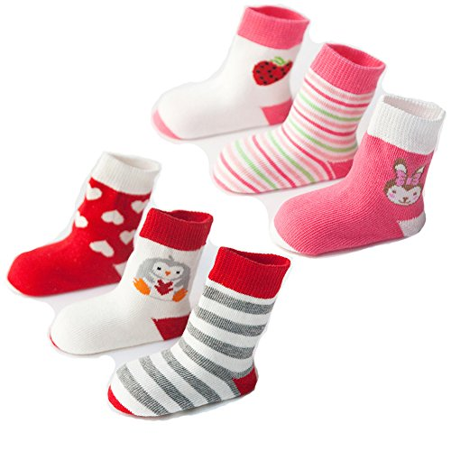 6 Pairs Baby Boys Girls Assorted Cotton Ankle Socks Best Infant And Toddler Gift For Spring Fall