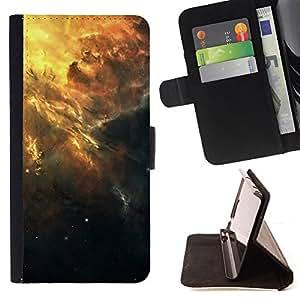 KingStore / Leather Etui en cuir / Samsung Galaxy Core Prime / Hermoso racimo de la galaxia