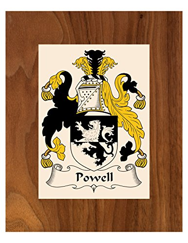 Powell Coat Of Arms (Carpe Diem Designs Powell Coat of Arms/Powell Family Crest 8X10 Photo Plaque, Personalized Gift, Wedding Gift)