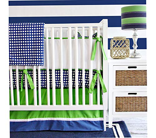 Wood & Style 2 Piece Crib Set Golden Boy Decor Comfy Living Furniture Deluxe Premium Collection