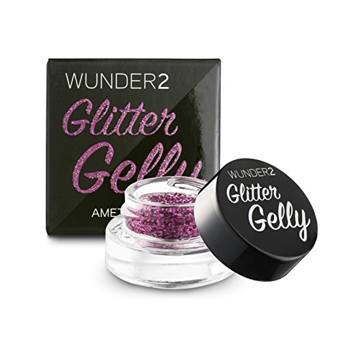 WUNDER2 GLITTER GELLY Long Lasting Glitter Gel - Face, Eye and Body Glitter Makeup, Amethyst Color by Wunder2