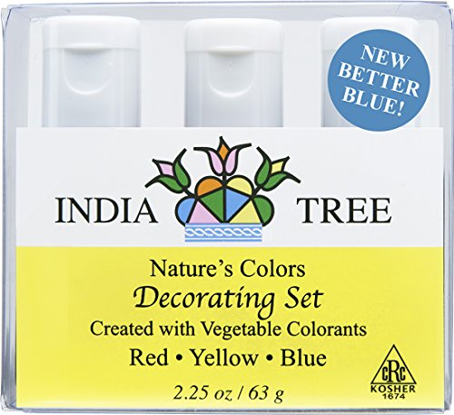 India Tree Natural Decorating Colors Set, 3-Count 2.25 ounces (Pack of 2)