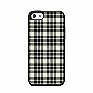 Black and White Plaid- TPU RUBBER SILICONE Phone Case Back Cover iPhone 5 5s