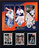 MLB Detroit Tigers Men's McLain-Morris-Verlander Legacy Collection Plaque, Brown