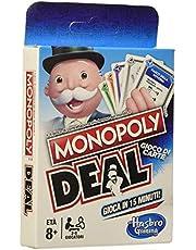 Hasbro Monopoly-E3113103 Deal, Gioco di Carte, Multicolore, E3113103