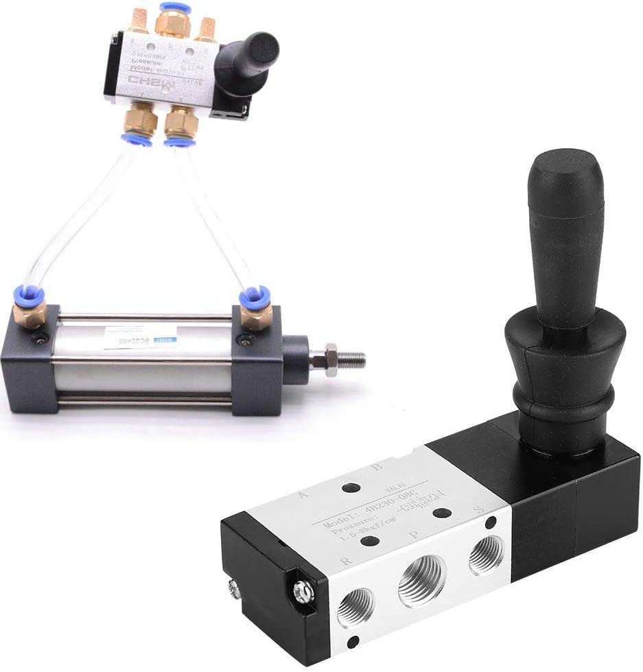 4h230-08 Air Valve Maxmartt Pneumatic Manual Control Valve 5 Port 3 Position 0~0.8Mpa