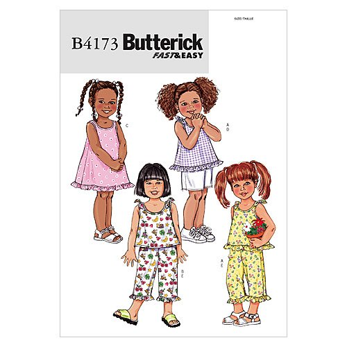 BUTTERICK PATTERNS B4173 Toddlers#039/Children#039s Top Dress Shorts and Pants Size 456